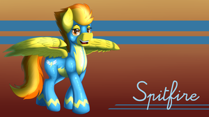 Wonderbolts Wallpaper 3: Spitfire by OokamiTheWolf1