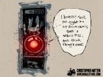 HAL 9000 by Christopher Mitten by AshcanAllstars