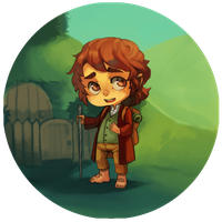 The Hobbit Buttons - Bilbo by BloodnSpice