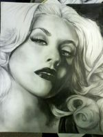 Christina Aguilera Portrait by rwright9