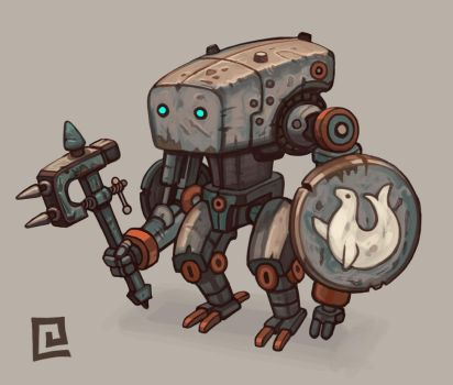 Robo Knight 1 by chrisknightart