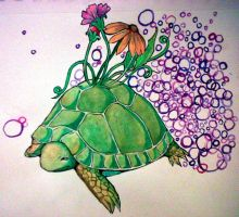 Flower Turtle by ImagineArtVibes