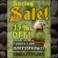 SPRING SALE! 15% off at nymla.etsy.com by Nymla
