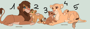 Adoptables 10 Points each one!!! by RIOPerla