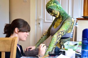 Lizard Woman: Doing the makeup by spirit0407