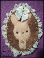 bunny brooch by pronouncedyou