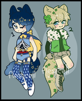 [CLOSED] KEMONOMIMI ADOPT PAIR by fleshcell