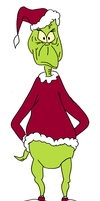 The Grinch -again colored- by throughtherain67