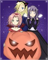 Naruto Girls Halloween 2007 by Minnietta