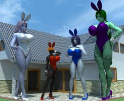 Giant Bunnies by shadowblade316