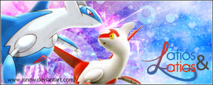 Banner: Latios + Latias Fly by iSnow