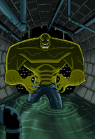 Dark Knight: Killer Croc of Doom Cover by LucianoVecchio