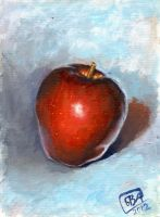 Oil Acrylic Paint Pract Apple002 by Natura-BVA