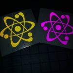 Atom symbol reflective decals by bigblued