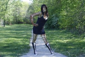 Alexa in snakeskin at marr park by mechataku