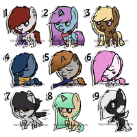 Chibi Pony Adopts: SOLD OUT by Kuro-Creations