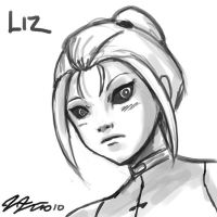 Liz Face Sketch by johnjoseco