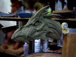 Dragon, clay sketch 3 by DaveGrasso
