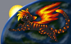 Phoenix Planet Thing -WIP- by Purrlstar