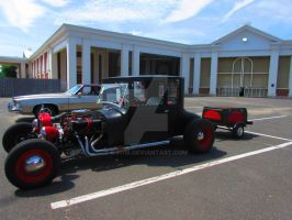 Hot Rod and Trailer by k-h116