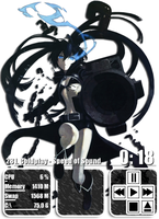 Black Rock Shooter 2 Rainmeter by Kaza-SOU