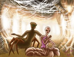 Collab - Silkworm and Spider by Jshei