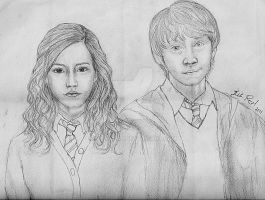 Ron and Hermione by talita-rj