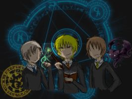 Hetalia Magic Trio by girlsrl