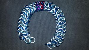 MLP Themed Vinyl Scratch Chainmail Bracelet-2 by TheGiantsnoll