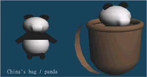 China's bag with panda WIP by xPomeriggio