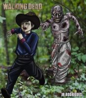 TWD Carl and his new friend by Junior-Rodrigues