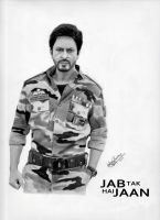 Sharukh Khan in JAB TAK HAI JAAN by ajayprabith