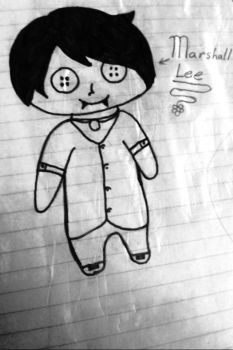 Chibi Marshall lee w/ button eyes by Rebelloup