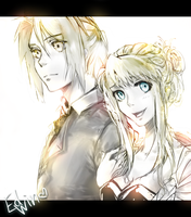 Edvard and Winry by Umika-Sayoji