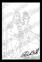 The princess and the Frog Lineart by DalilaGFX