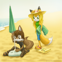 On the beach by SilveMaran