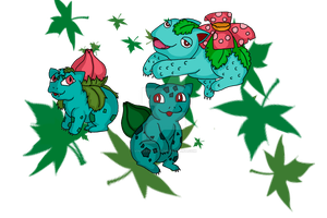 Poke Project 1 - Bulba Family by Vintergnista