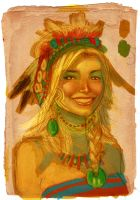 Native Girl by MicahJGunnell