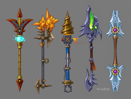 Polearms by blazan