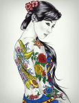 tattooed girl by carldraw