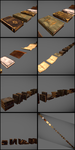 3D Props: Lots of books by iDrix