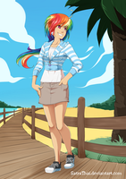 Dashie's walking on the beach by SatraThai