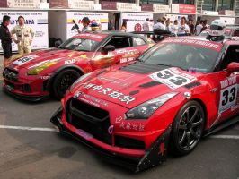 New Nissan GT-R race car by macaustar