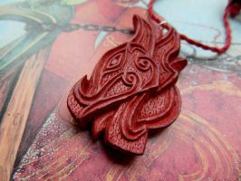 DRAGON'S HEAD PENDANT by MassoGeppetto