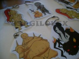 Dark Souls Chibi Keychains by UsagiLovex
