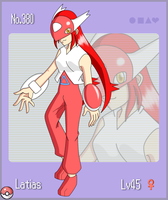 Pokemon Gijinka No.380 Latias by flaming-albatross