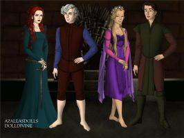 The Big Four Game-of-Thrones-Azaleas-Dolls by InvisibleDorkette
