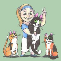 Peace, Love and Cats by Dead-Raccoons