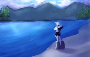 Lake Speedpaint by DJaimon