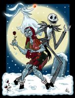 Jack and Sally and Zero by StudioBueno